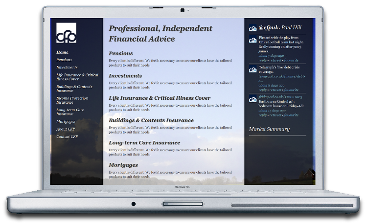 Complete Financial Planning Project Website Design And Development In Hailsham Eastbourne