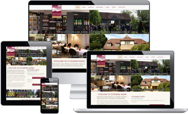 Screenshot of The English Wine Centre project