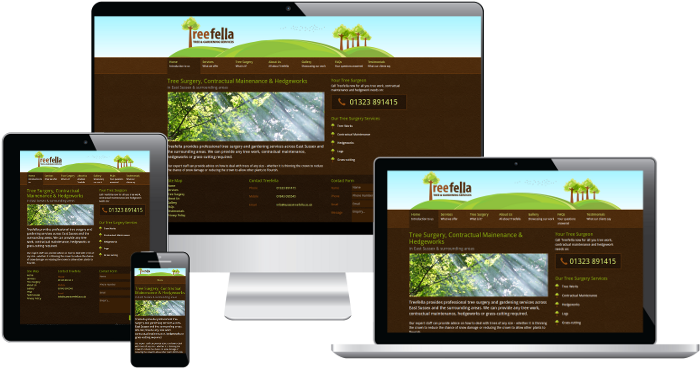 The Treefella responsive website